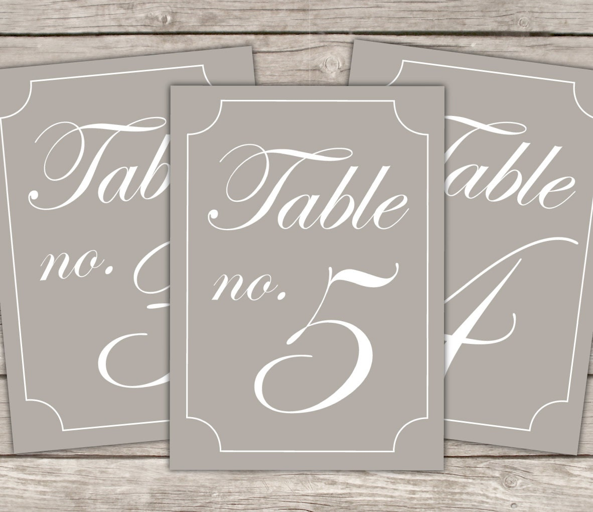 Items similar to table numbers template modern design diy for Table numbers for wedding reception templates