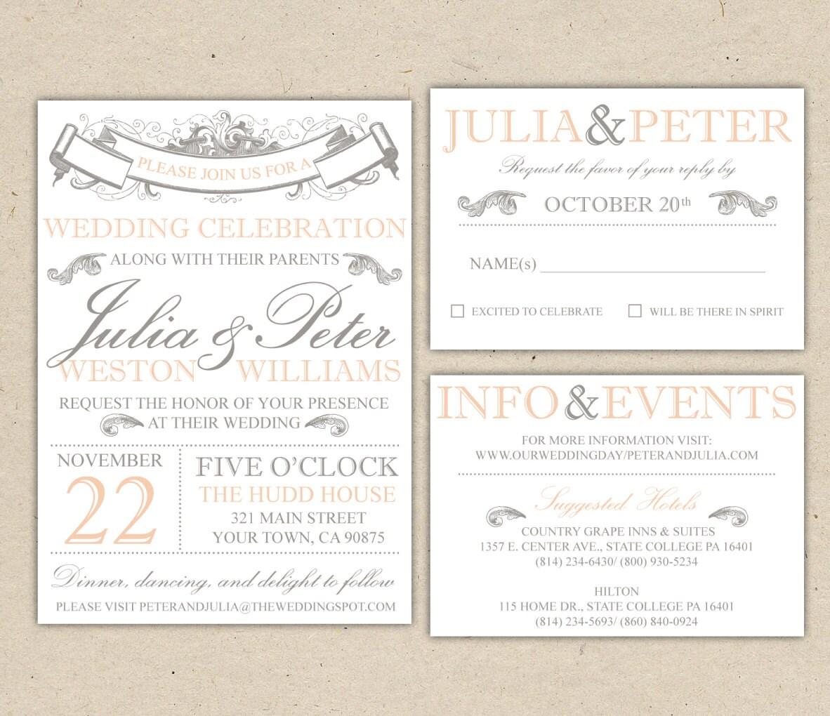 Elegant Sample Wedding Invitations Templates