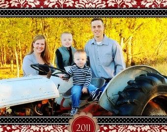 Red Damask Christmas