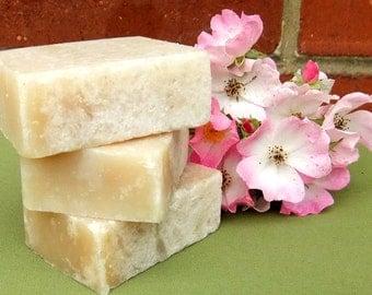 2 bars Goat's Milk & Rose with Fresh Honey Traditional Hand Made Soap UK seller