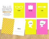 Sillo Series / Printable Journal Cards