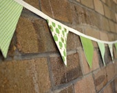 Adorable 'Apple of my Eye' lined bunting in 100% cotton FREE POSTAGE within Australia