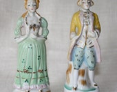 Colonial Porcelain Figurines Couple Made in Japan