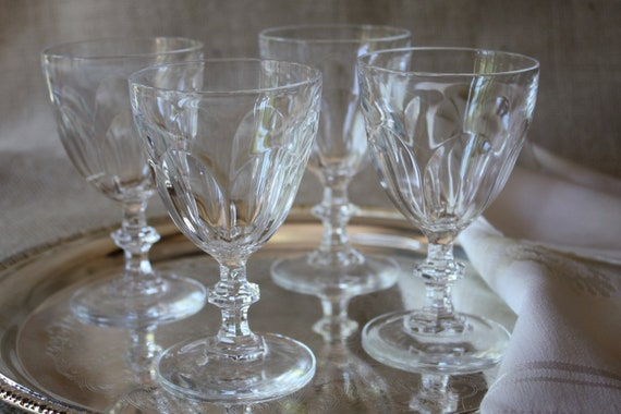 Cris D'Arques/Durand Rambouillet Elegant Lead Crystal Wine Glasses - Set of 12