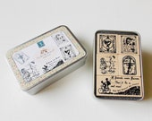 DYI Wooden Rubber Stamps Set - Friends