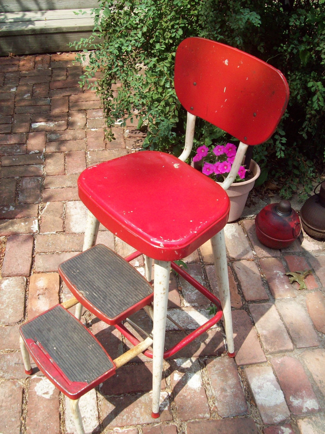 Vintage Ames Maid Step Stool Chair