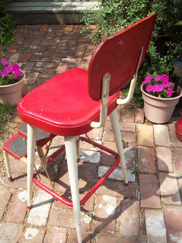 Vintage Ames Maid Step Stool Chair