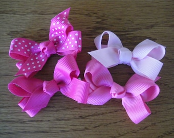 "6  Boutique Baby Hair Bows on Alligator Clips Pick your favorite colors! Made with 5/8"" ribbon"