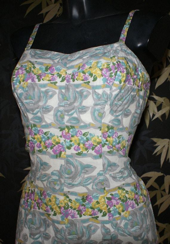 Reserved Vintage Rose Marie Reid 1950s playsuit romper swimsuit M L VLV rockabilly pinup