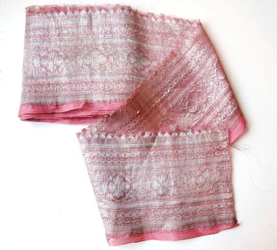 Vintage Simmering Silk Brocade Sari Border Trim20