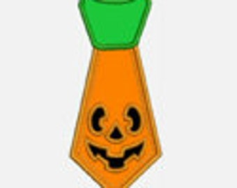 Pumpkin Tie...Embroidery Applique Design...Three sizes for multiple hoops...Item1411...INSTANT DOWNLOAD
