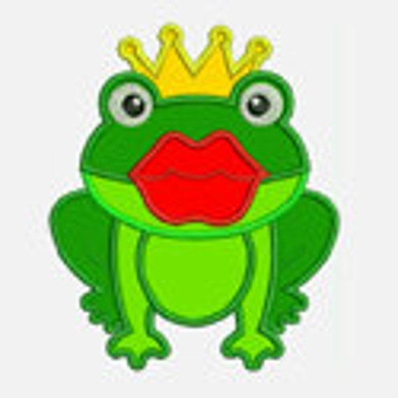 Kiss a Frog...Embroidery Applique Design...Three sizes for multiple hoop...Item1151.