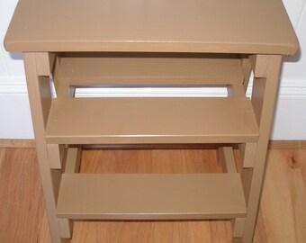 Step ladder, stool,  brown, gift idea
