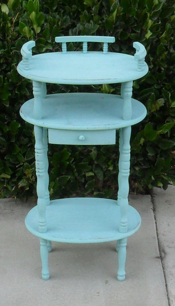 Small Turquoise End Table