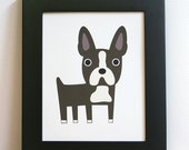 "Boston Terrier Art Print. 8"" x 10"""