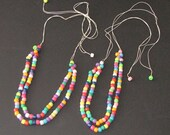 Fun for MOTHER and daughter with matching multi-color necklaces