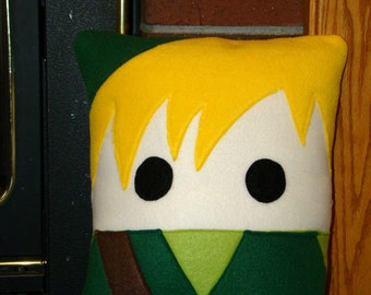 Link pillow, Legend of Zelda plush pillow, throw pillow