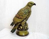 Green Ceramic Bird of Prey