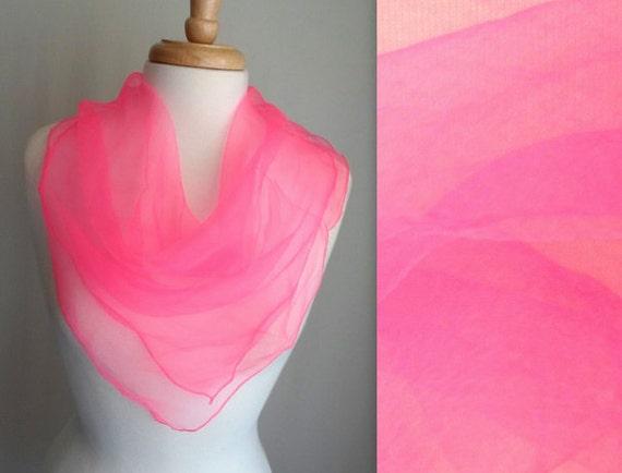 Hot Pink Sheer Scarf