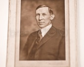 Boyd - original vintage photograph dapper distinguished gentleman portrait cottage decor 1900s men's decor suit and tie debonair