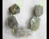 SALE,5 PCS Labradorite Faceted Bead,31.5g