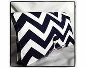 Diaper Wipe Clutch- Navy Blue Chevron-  Organize your Diaper Bag