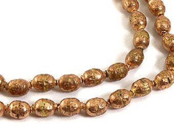 Ethiopian Prayer Beads Copper Colored with Tassel African 59646