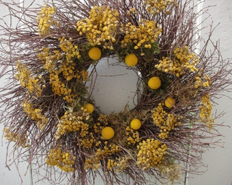 Twig Wreath   Billy Balls  Autumn Wreath   Natural Wreath    Twigs    Front Door Wreath     Fall Decor  Home Decor  Wall Decor
