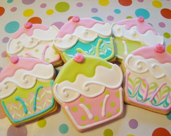 Cupcake cookie favors