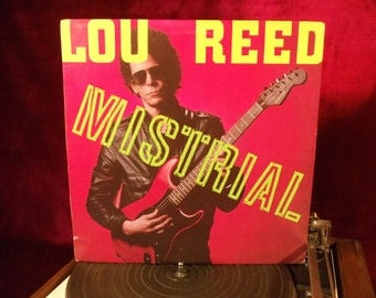 LOU REED - Mistrial - 1986 Vintage Vinyl Record Album...PROMOTIONal Copy