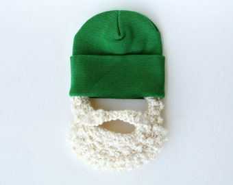 Baby Beard Hat - Green with Blonde Beard- Order for up to 3 years