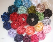 Design it yourself - 3 inch satin flower hairclip