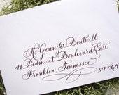 Wedding Envelope Calligraphy---Hand Written Envelope Addressing--The Dianna Font