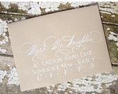 Wedding Calligraphy---Hand Written Envelope Addressing--The Katie Style