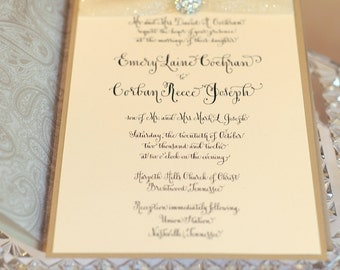 Wedding Calligraphy--Hand Written Invitation Image---The Zoe Font