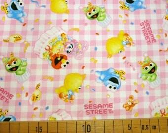Sesame Street fabric light pink colour Japanese fabric 100cm x 78cm