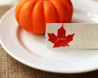 Thanksgiving Place Cards Digital Download Instant Download Placecards Holiday Table Decor Typography Set of 6   - by Dawn Smith