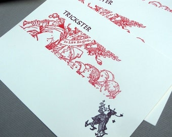 Trickster Pied Piper Letterpress Cards (pack of three with envelopes)