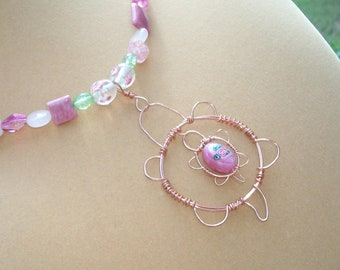 Mommy and Baby Turtle Necklace,