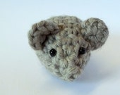 Cute Amigurumi: Tiny Light Grey Mouse, Gray Mousie