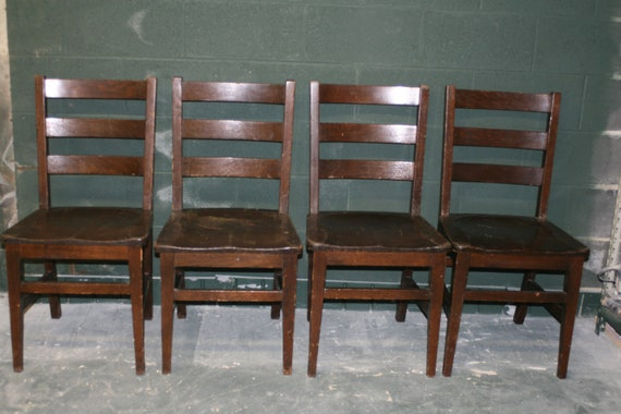 School House Rustic Chairs