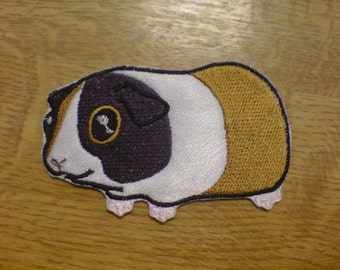 Guinea Pig - machine fill stitch embroidery design and applique designs, 4x4 and 5x7 INSTANT DOWNLOAD