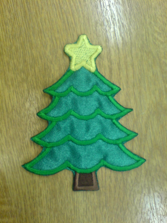 Simple Christmas Tree Machine Embroidery Applique Designs