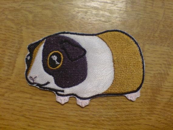 Guinea pig machine fill stitch embroidery design and
