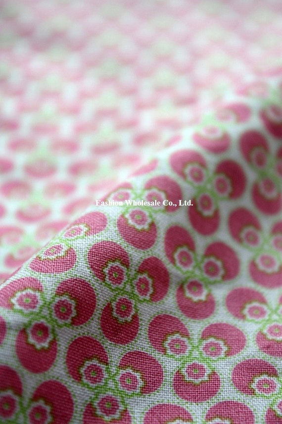 Kawaii Cotton Fabric - Pinky Flower