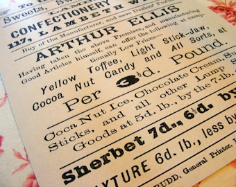 19th Century Lambeth Confectionary Works Antique Ephemera Reproduction Print from Curious London
