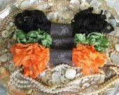 Crinkled Seam Binding Ribbon -  Scary Halloween Bundle - Rustic, Shabby Chic, Beach, Cottage, French Country, Wedding, Scrapbooking