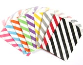 50% OFF SALE - 50 Small Stripe Treat Bags (Party / Wedding Favor Bags, Project Life, Gift / Business Card Envelopes) - 2.75 x 4 inches