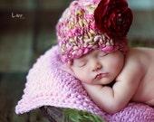 Newborn Hat PATTERN, the New Ava Hat, in Handspun Yarn, Includes Yarn List, NEW