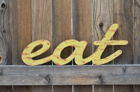 Eat Sign - Wood Words - Kitchen